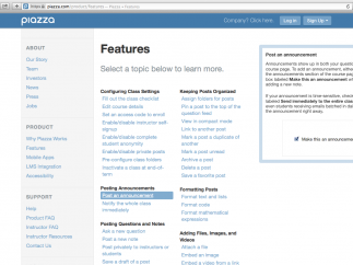The features list allows users to see most options, each with an informative how-to.