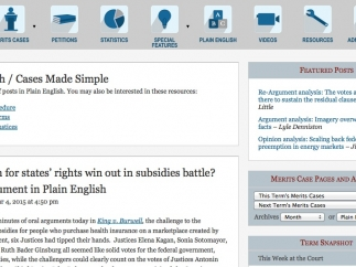 Simplified articles on Supreme Court cases.