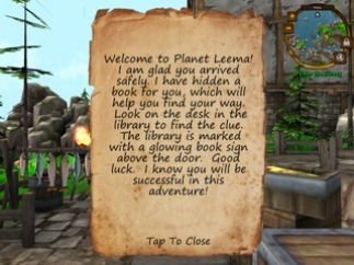 Missions are delivered through notes and scrolls.