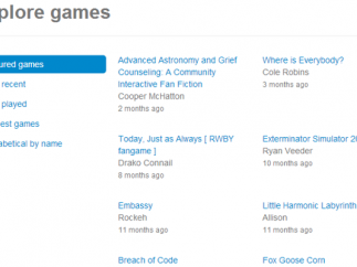 Explore different games in the Playfic catalog.