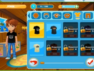 As students play and build points, they can unlock new clothes or accessories for their avatar.