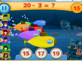 Kids can play mini-game competitions with friends, each playing at his or her own skill level.