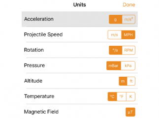 Sensors can measure acceleration, temperature, pressure, and more.