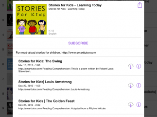 Subscribe to a podcast series or download individual episodes.