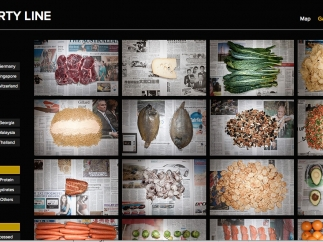 Users can see images of various foods from selected countries.