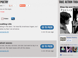 """The most recent poems are posted under the """"Browse Teen Poetry"""" tab."""