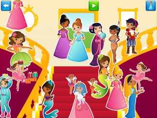 The app includes princesses from many cultures.