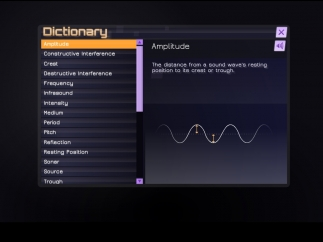 The built-in dictionary is the best resource in the game.