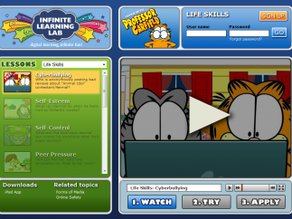Kids can learn about cyberbullying and life skills in the Infinite Learning Lab.