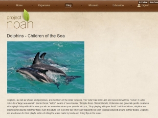 The blog on Project Noah provides further reading on different organisms.