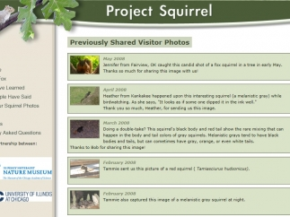 Students can submit photographs and comments to the site via email.