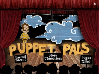 A hand-made puppet theater look and streamlined menus makes storytelling attractive and easy.