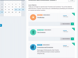 The Lesson Planner is used to create and assign detailed text-based lessons.