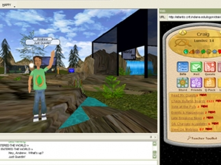 Dashboards let students and teachers control quests.