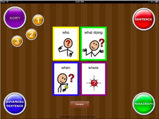 The simple interface has color-coded support to systematically cue students toward comprehension.