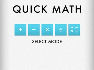 Players can choose among four math operations and a challenge mode.