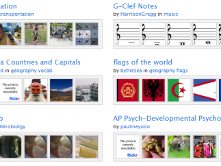 A sampling of flash card sets created by Quizlet users.
