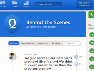 Quizlet's blog features updates and upgrades.