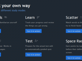 Quizlet has six study modes for students.