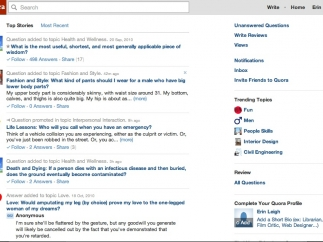 Newsfeeds provide updates on the topics users select.