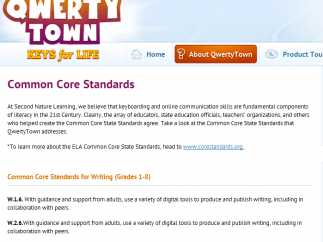 Lessons connect to Common Core Standards in writing.
