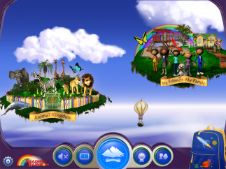 Visit reading islands to find books and videos related to the island's theme.