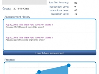 See student progress. Reports can be shared with parents or other teachers from the online portal only.