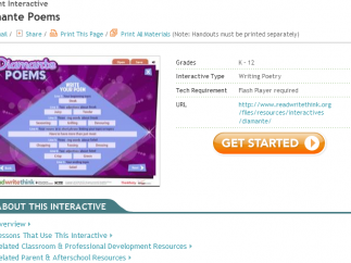 Student interactives can be saved for use at a later time.