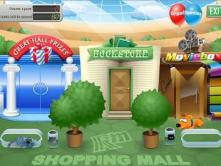 Kids can spend the points they earn on virtual prizes in the RM Shopping Mall.