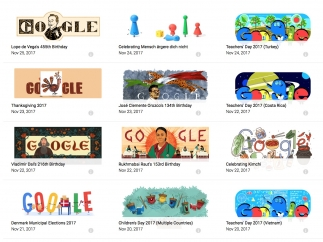All doodles are archived and easy to search.