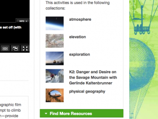 The Related Materials menu links to content to expand or enhance a lesson.