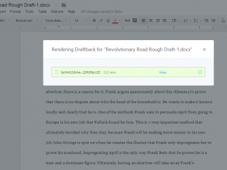 """Use the tool to render a """"draftback"""" and see details of your own writing process."""