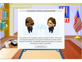 Choose an avatar to represent you in the game.
