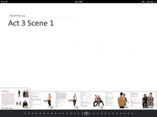 Students can jump to specific scenes or pages.