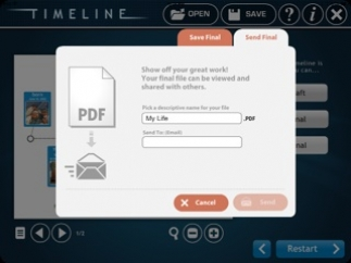 Students can email completed timelines as pdfs.