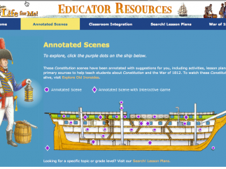 The teacher's section gives overview of activities for students.