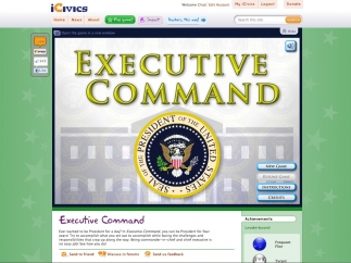 The home screen from Executive Command.