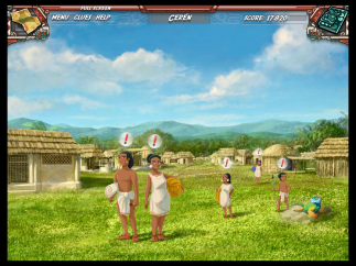 Players also travel into the past to interact with the Maya in their living cities.