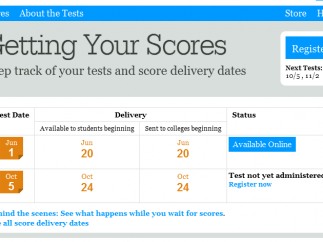 Students can get their scores online.