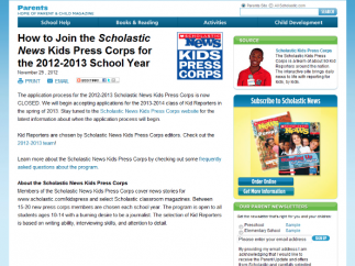 Students can apply to become reporters for the Scholastic Kids Press Corps news.