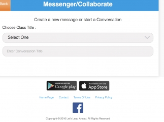 Students and teachers can collaborate on a message board.