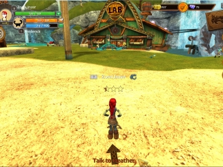 Students walk their characters around, completing quests, doing activities, and playing mini-games.