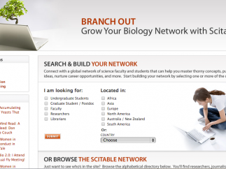 Create a Biology network, then add students, teachers, and scientists.