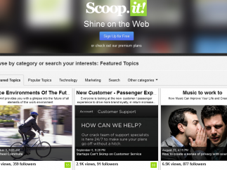 Let your own interests populate this online newspaper.