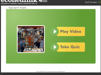 Students can take a quiz at the end of the video.