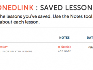 Teachers can view their saved lessons.