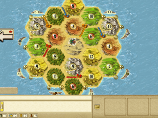 Players have a chance to warm up against computer opponents in Play Catan's tutorials.