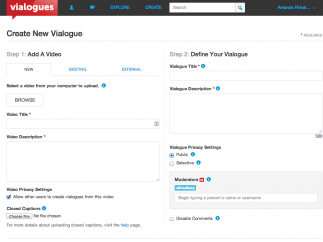 Adding videos and comments is a breeze with the simple interface.