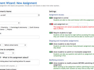 Adding an Assignment is simple: Select videos, then add questions and materials.