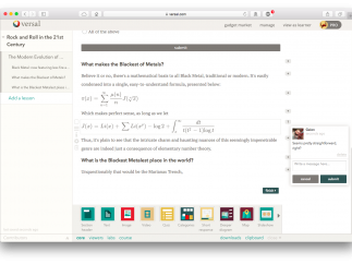 LaTeX-like math entry and interactive commenting are welcome additions.